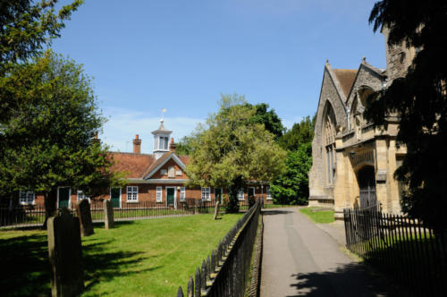 View to Twitty's Almshouses, Abingdon
