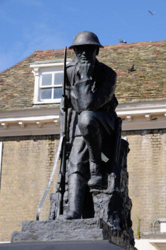 The Thinking Soldier War Memorial , Huntingdon