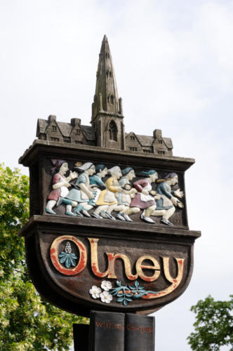 Town sign, Olney