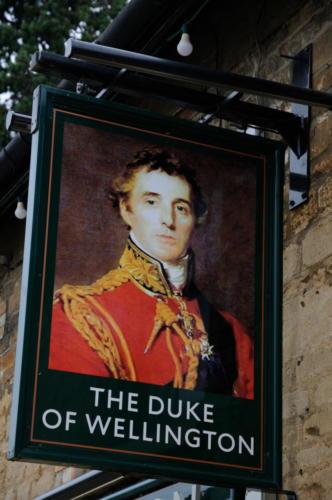 The Duke of Wellington inn sign, Stanwick