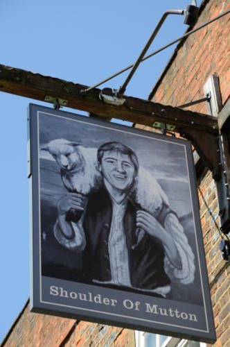 Shoulder of Mutton inn sign, Wendover